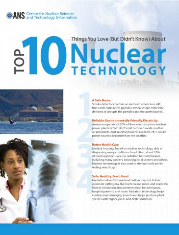 Top 10 Things You Love (But Didn't Know) About Nuclear Technology