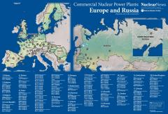 2019 Nuclear News Wall Map Of United States Commercial Nuclear Power - Us-nuclear-reactor-map
