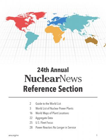 Nuclear News World List of Nuclear Power Plants