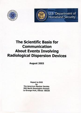 The Scientific Basis for Communication About Events Involving Radiological Dispersion Devices