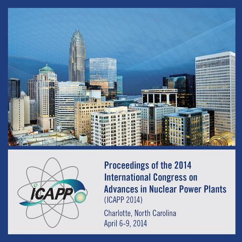 2014 International Congress on Advances in Nuclear Power Plants (ICAPP 2014)