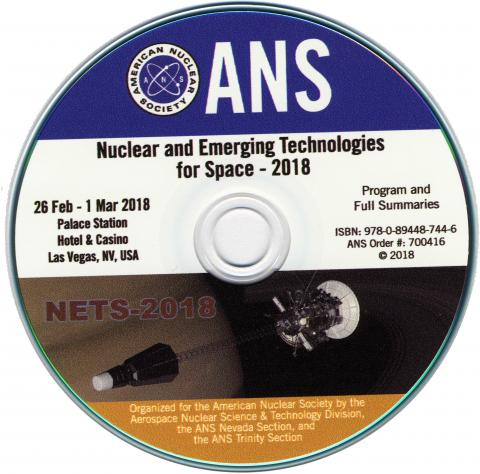 Nuclear and Emerging Technologies for Space (NETS 2018)