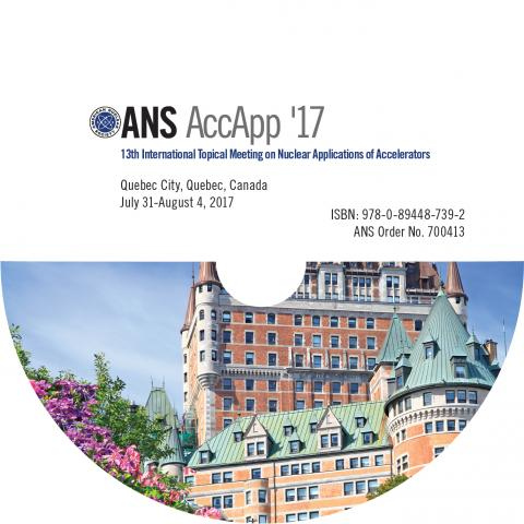 13th International Topical Meeting on Nuclear Applications of Accelerators (AccApp '17)